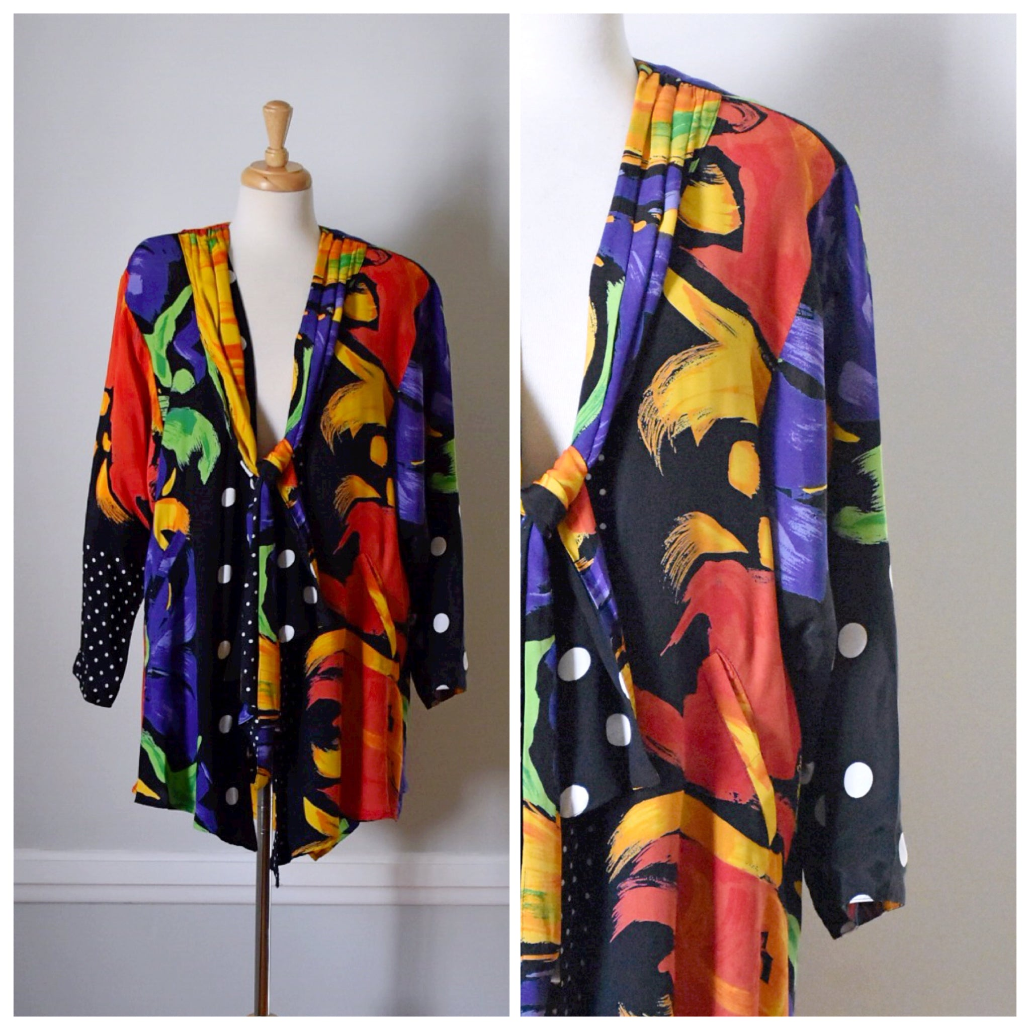 80s Brushstroke Glam Jacket