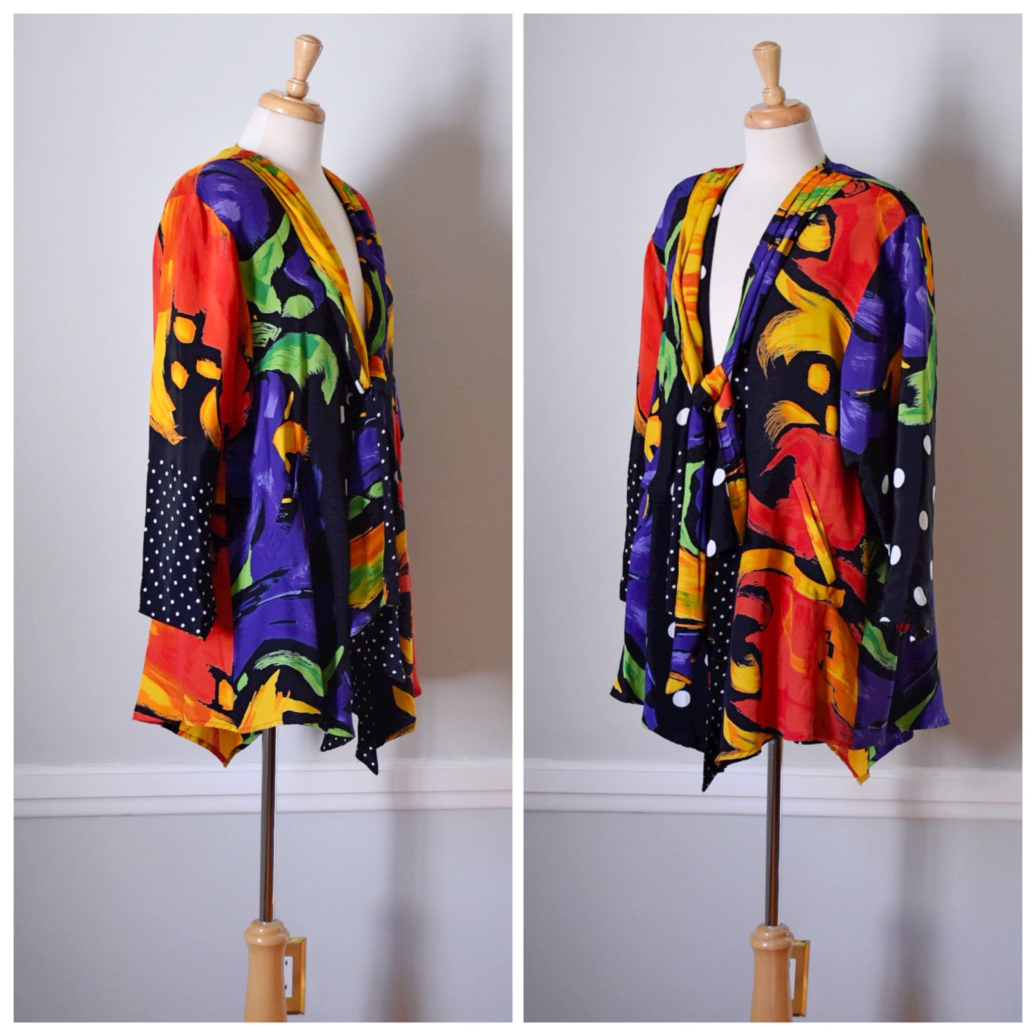 SOLD // 80s Brushstroke Glam Jacket