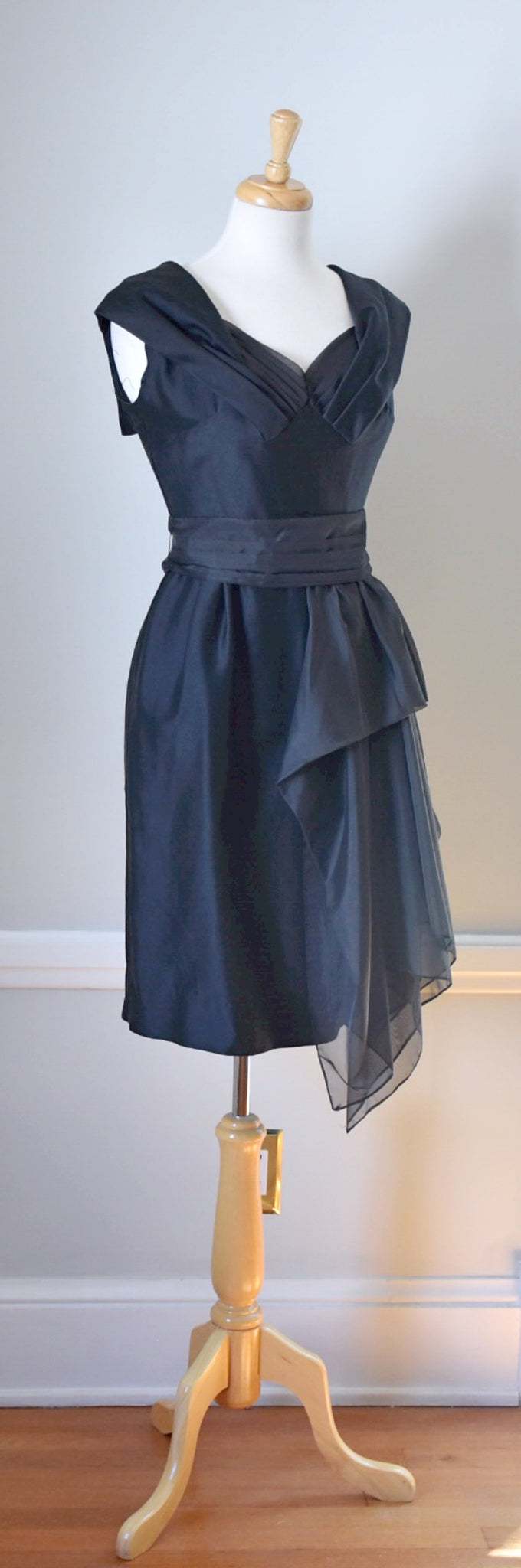 50s black party dress