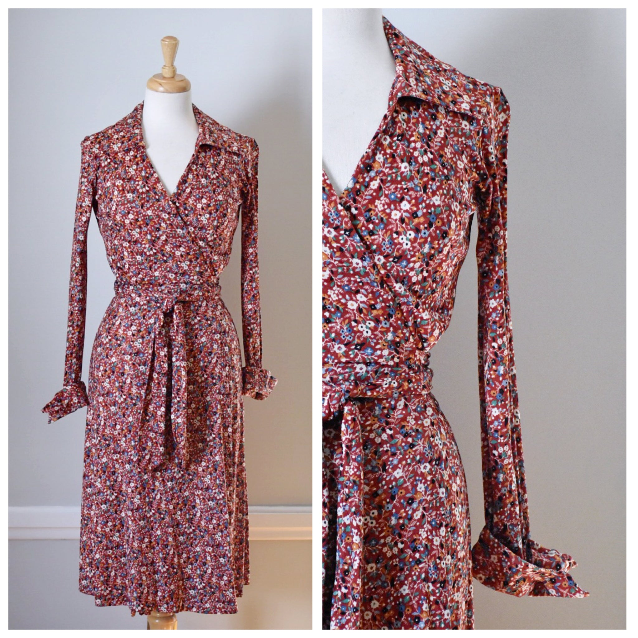 70s Huk-A-Poo Wrap Dress