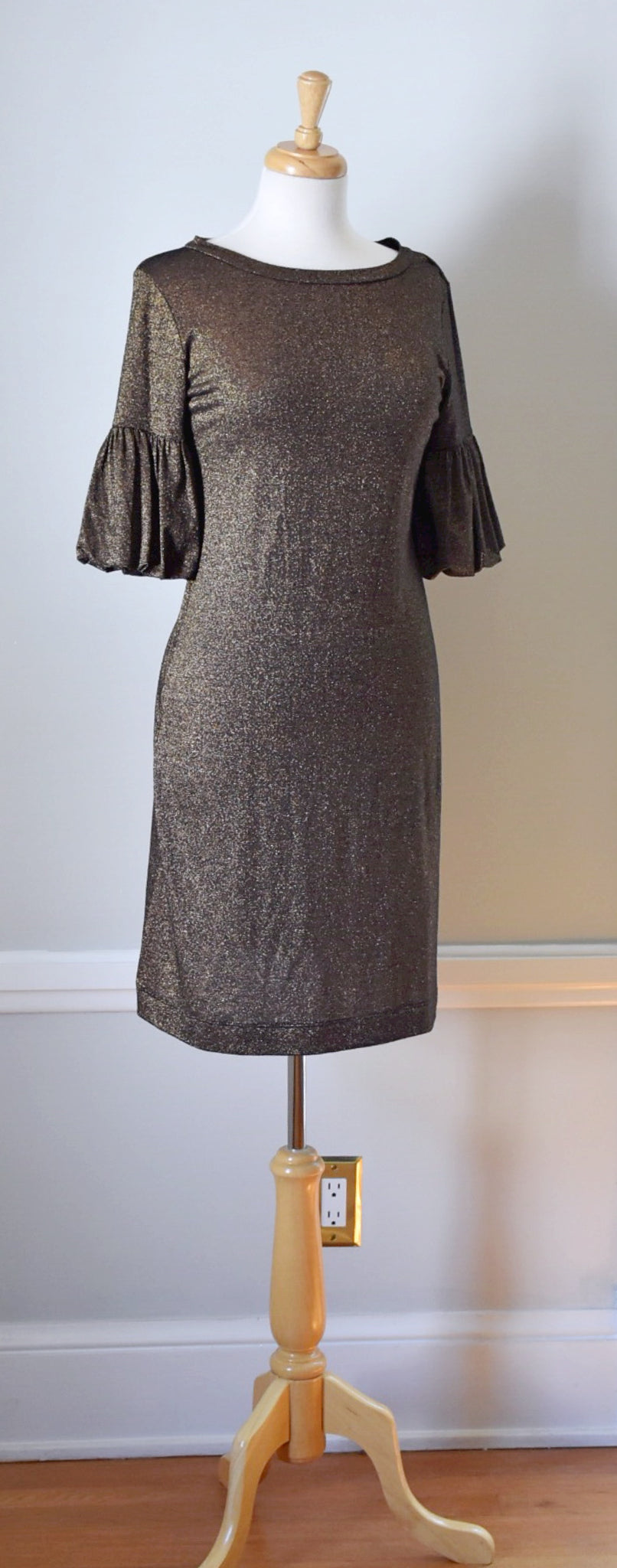 90s Lurex Sheath Dress