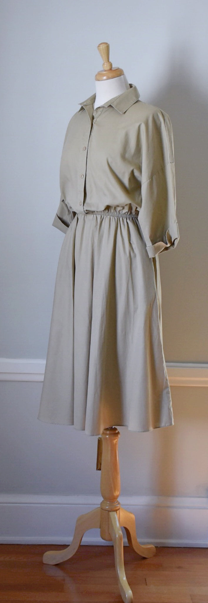 50s Shirtwaist Day Dress