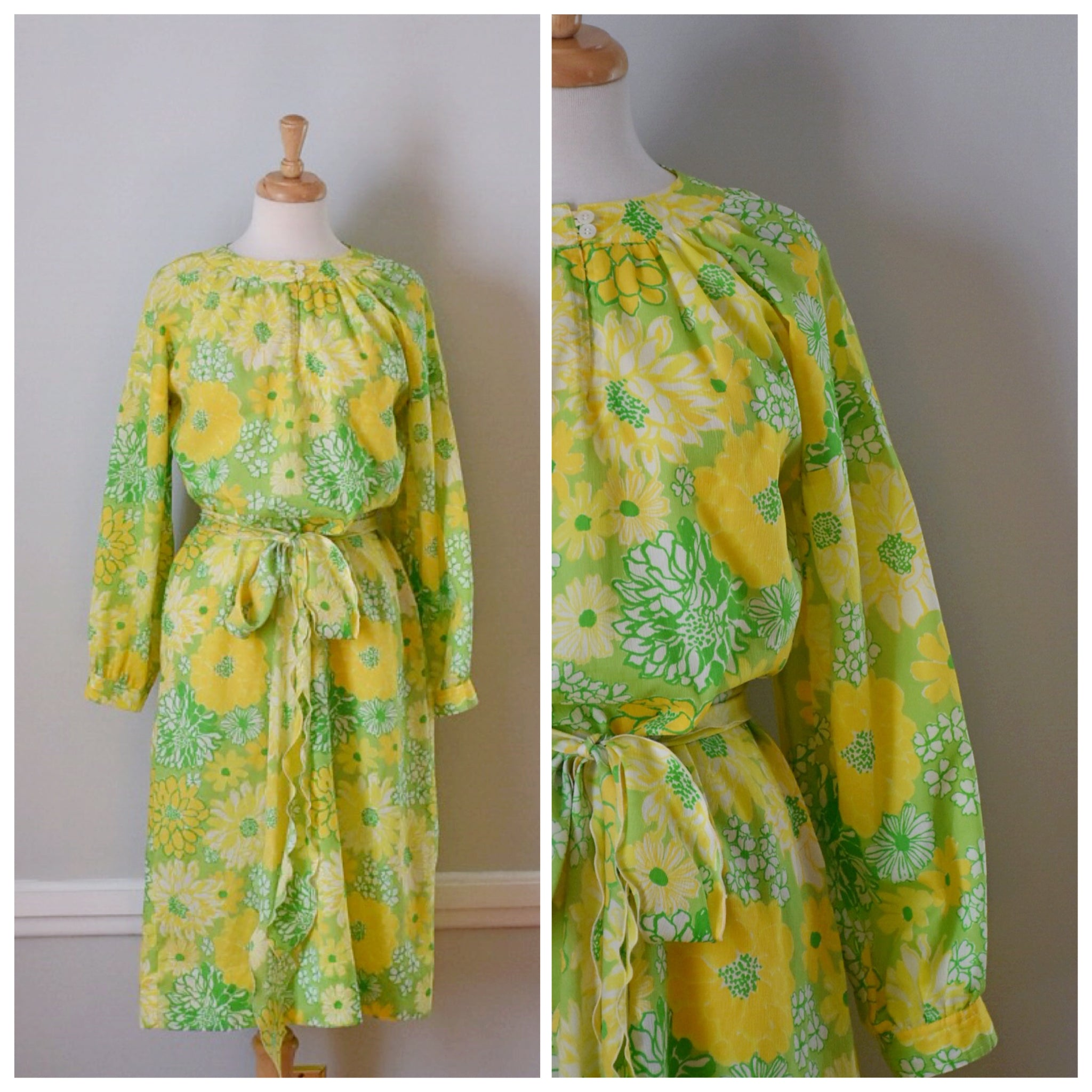 60s Vintage Lilly Pulitzer Lemon and Lime Day Dress