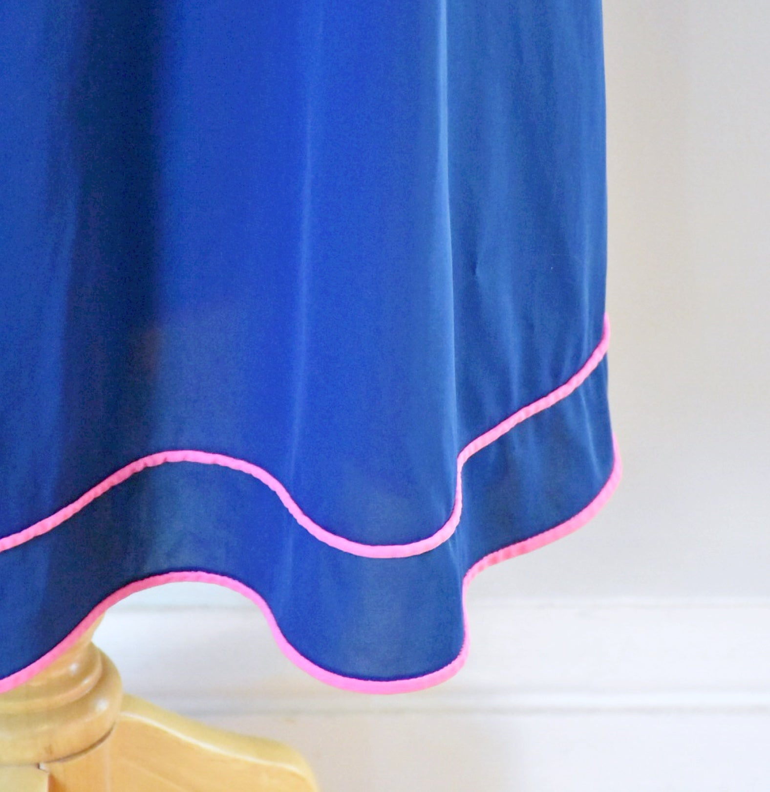 70s Blue and Pink Nightgown