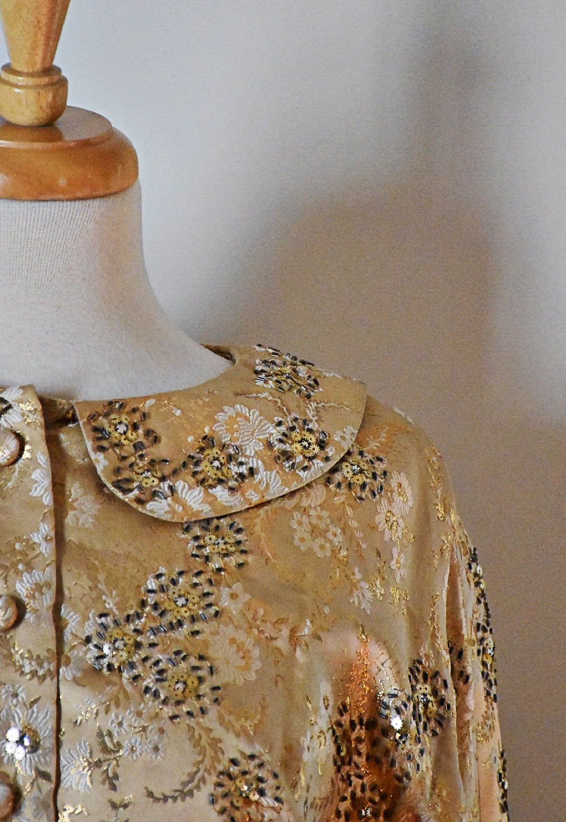 60s Larry Aldrich Beaded Dress
