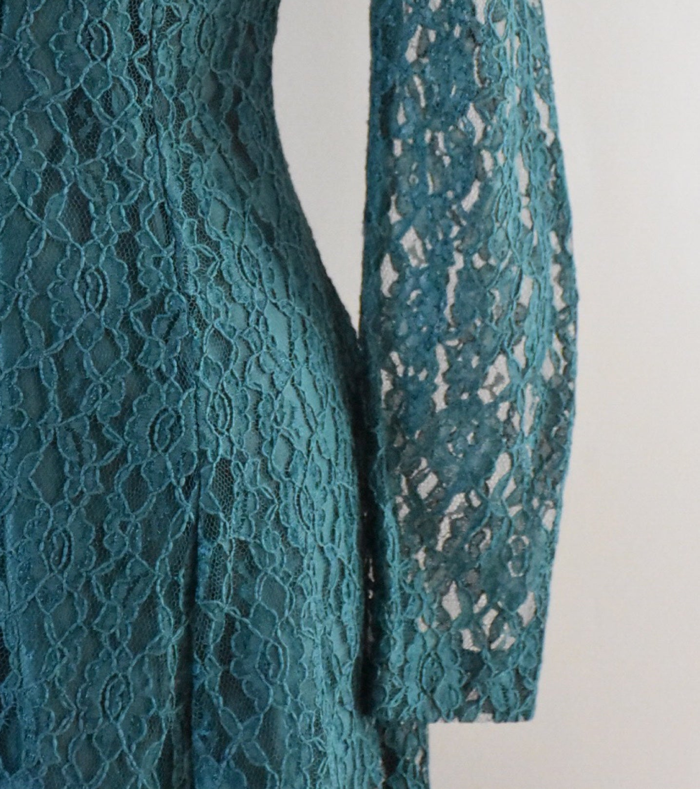90s Green Lace Boho Dress