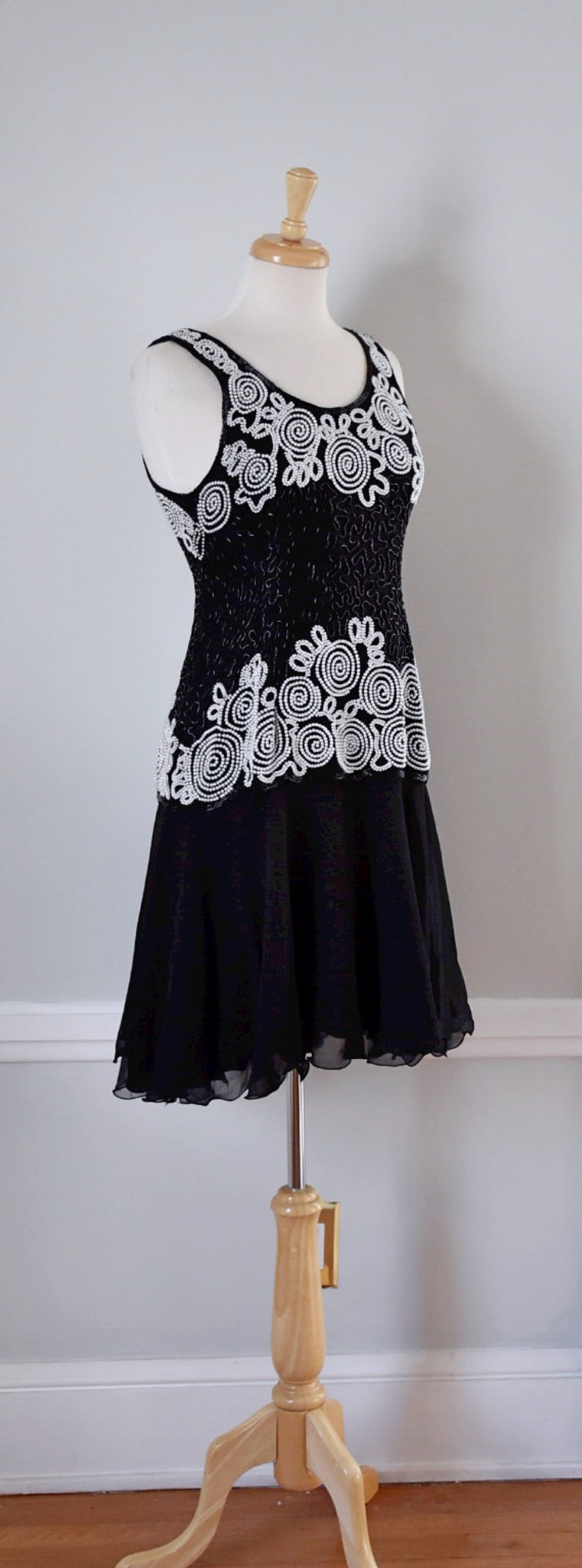 Black and White Laurence Kazar Dress