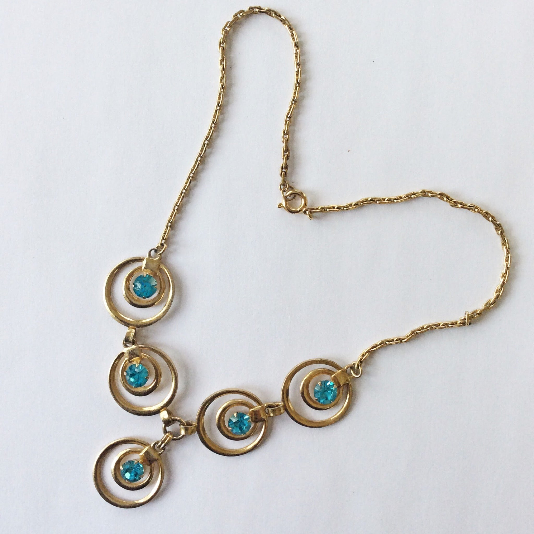 40s Retro Rhinestone Necklace
