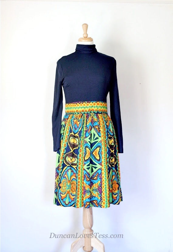 SOLD // 60s / 70s Knit Day Dress