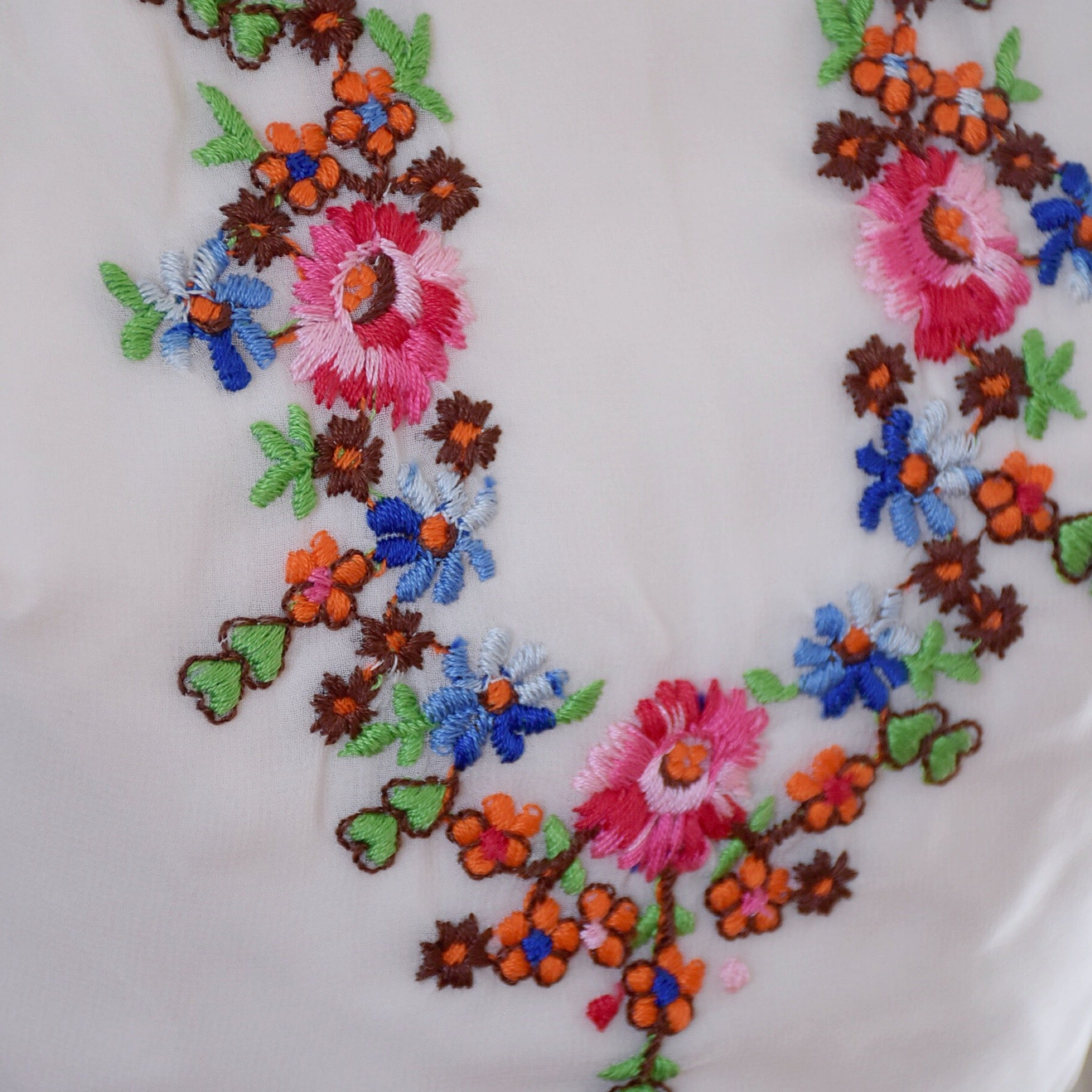 SOLD // 60s / 70s Vintage Chiffon Hostess Maxi Dresss