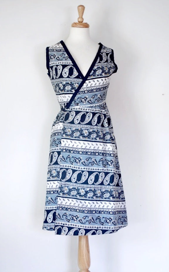 60s wraparound dress