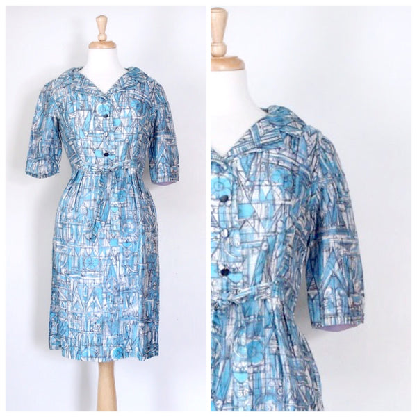 50s 60s Atomic Day Dress