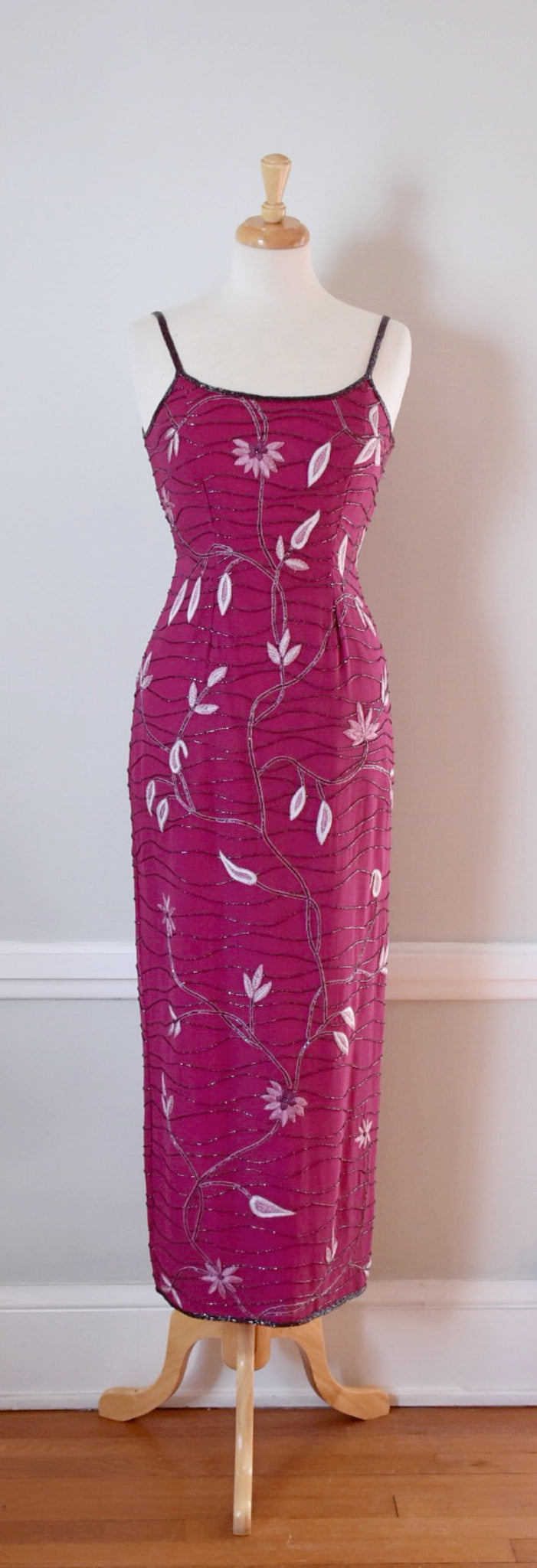 90s Beaded Formal Dress
