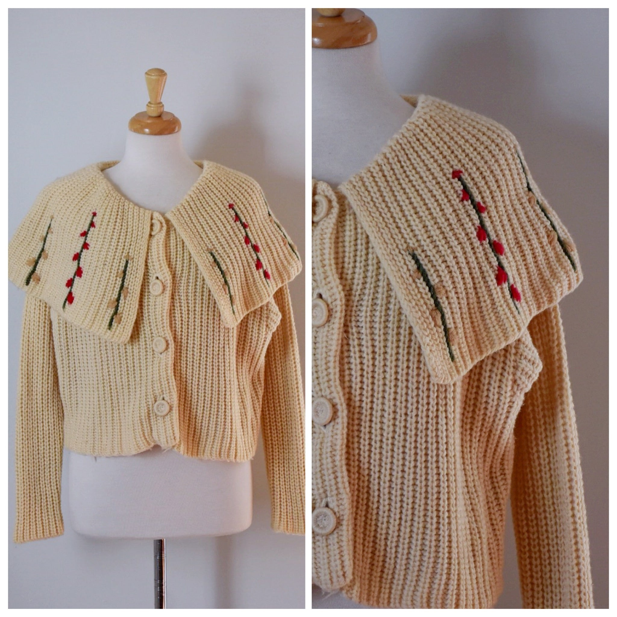 50s Shawl Collar Cardigan Sweater