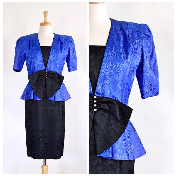 80s Glam Peplum Dress and Jacket