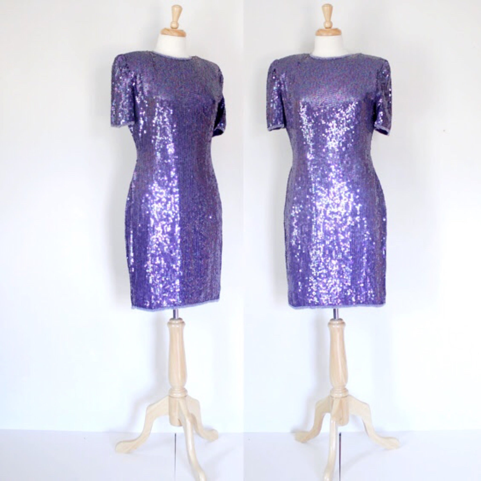 SOLD // 80s Beaded Trophy Dress By Laurence Kazar