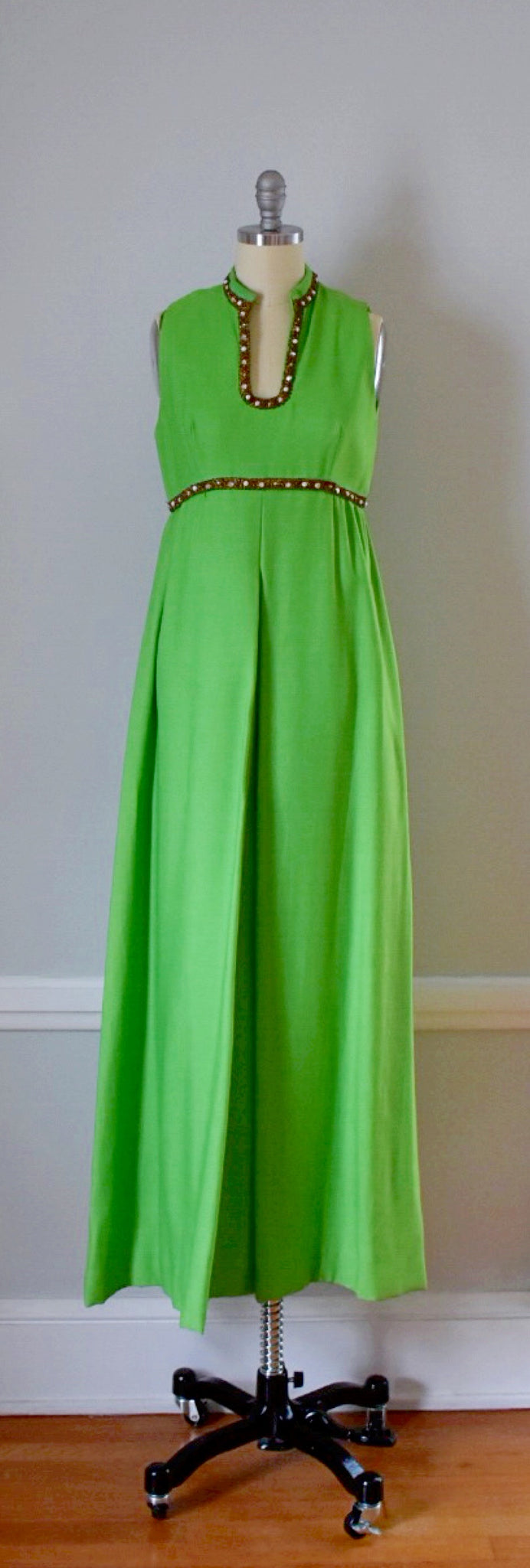 60s Vintage Floor Length Maxi Dress