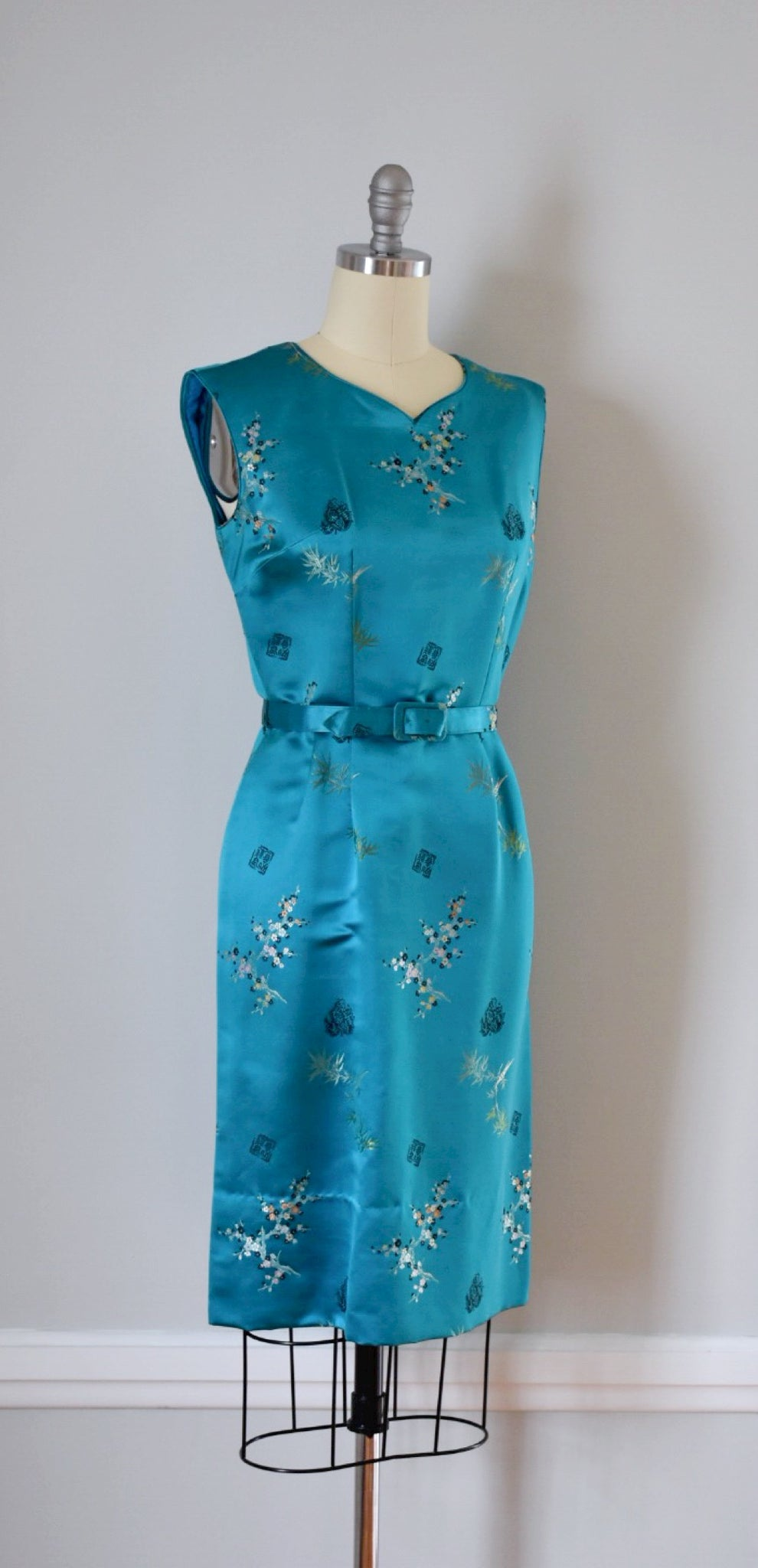 50s / 60s Silk Sheath Dress