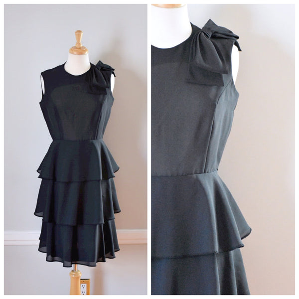 60s Black Party Dress