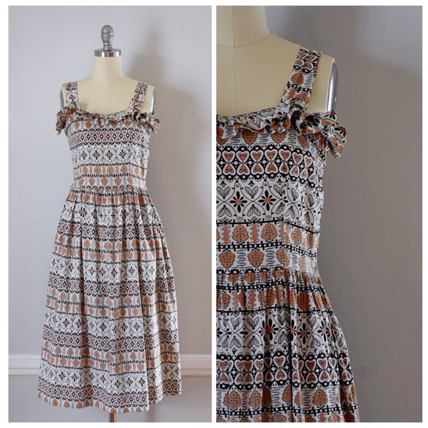 50s / 60s Novelty Print Sundress
