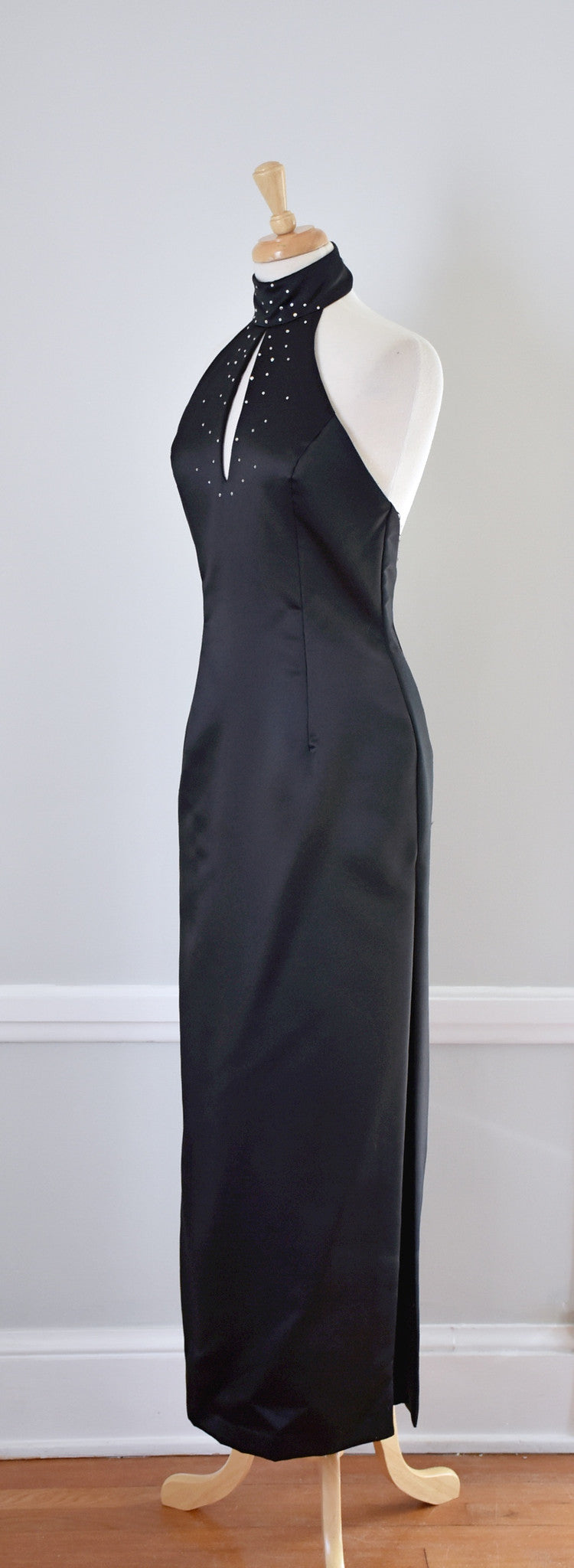 90s Jessica McClintock Halter Dress