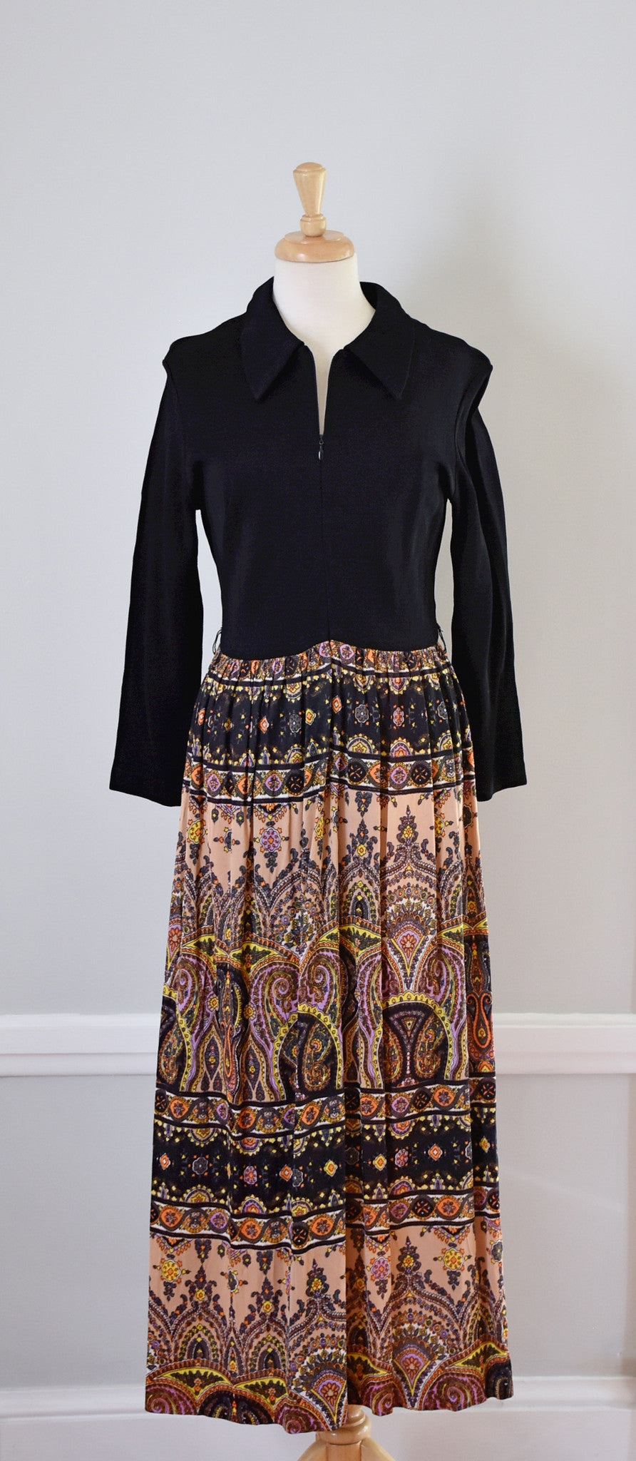 60s / 70s Polyester Maxi Dress