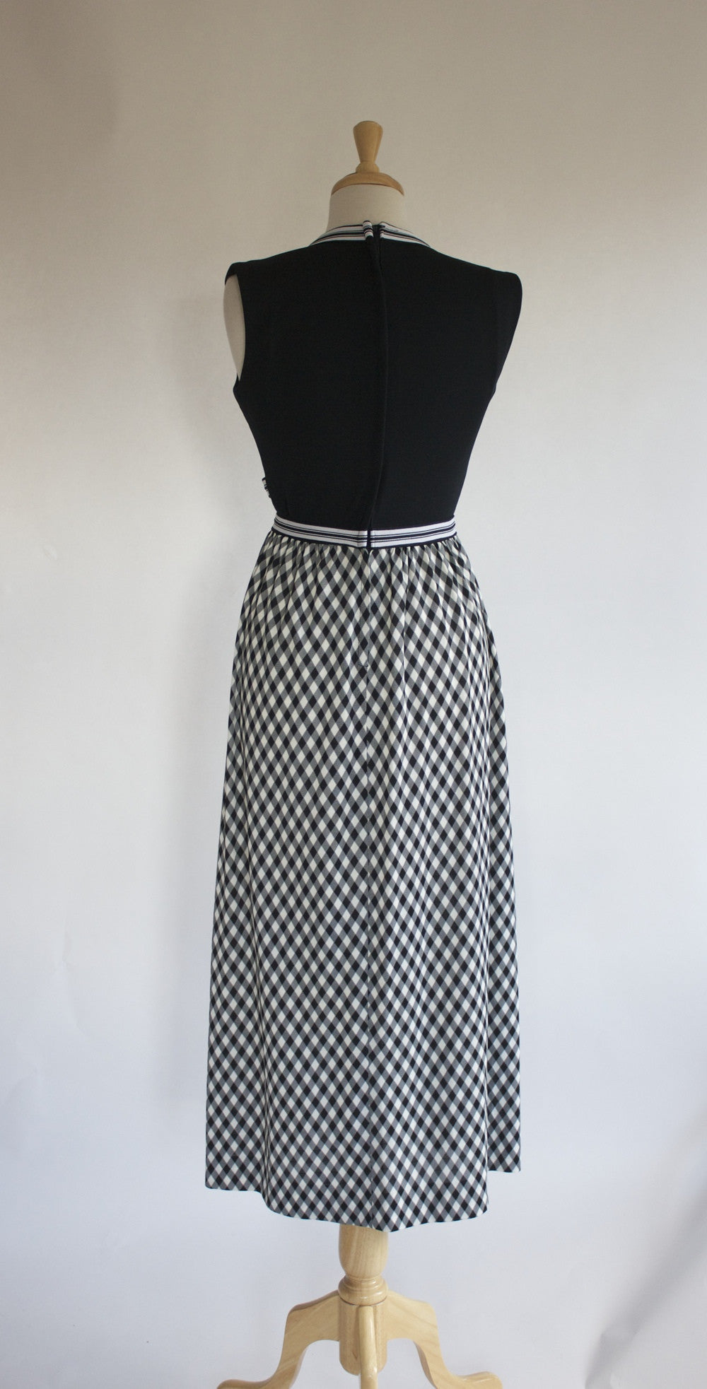 60s Polyester Maxi Dress