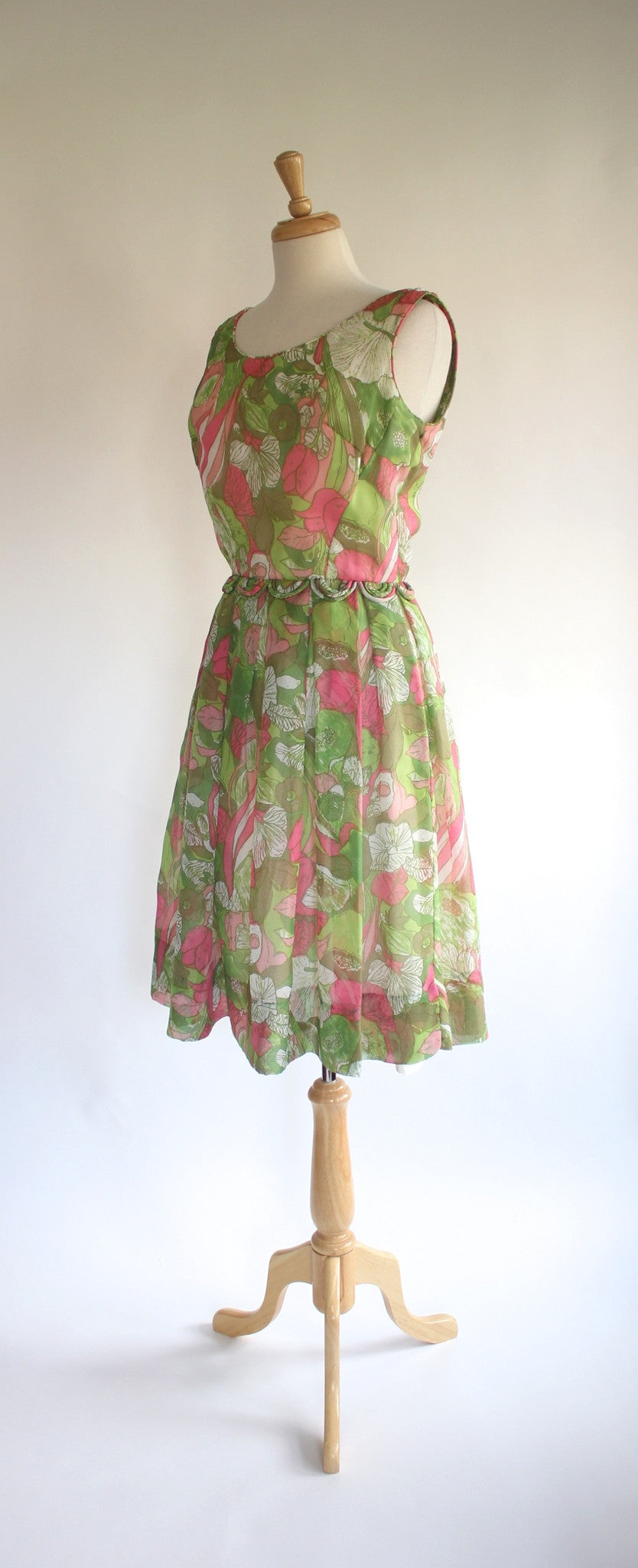 50s chiffon dress