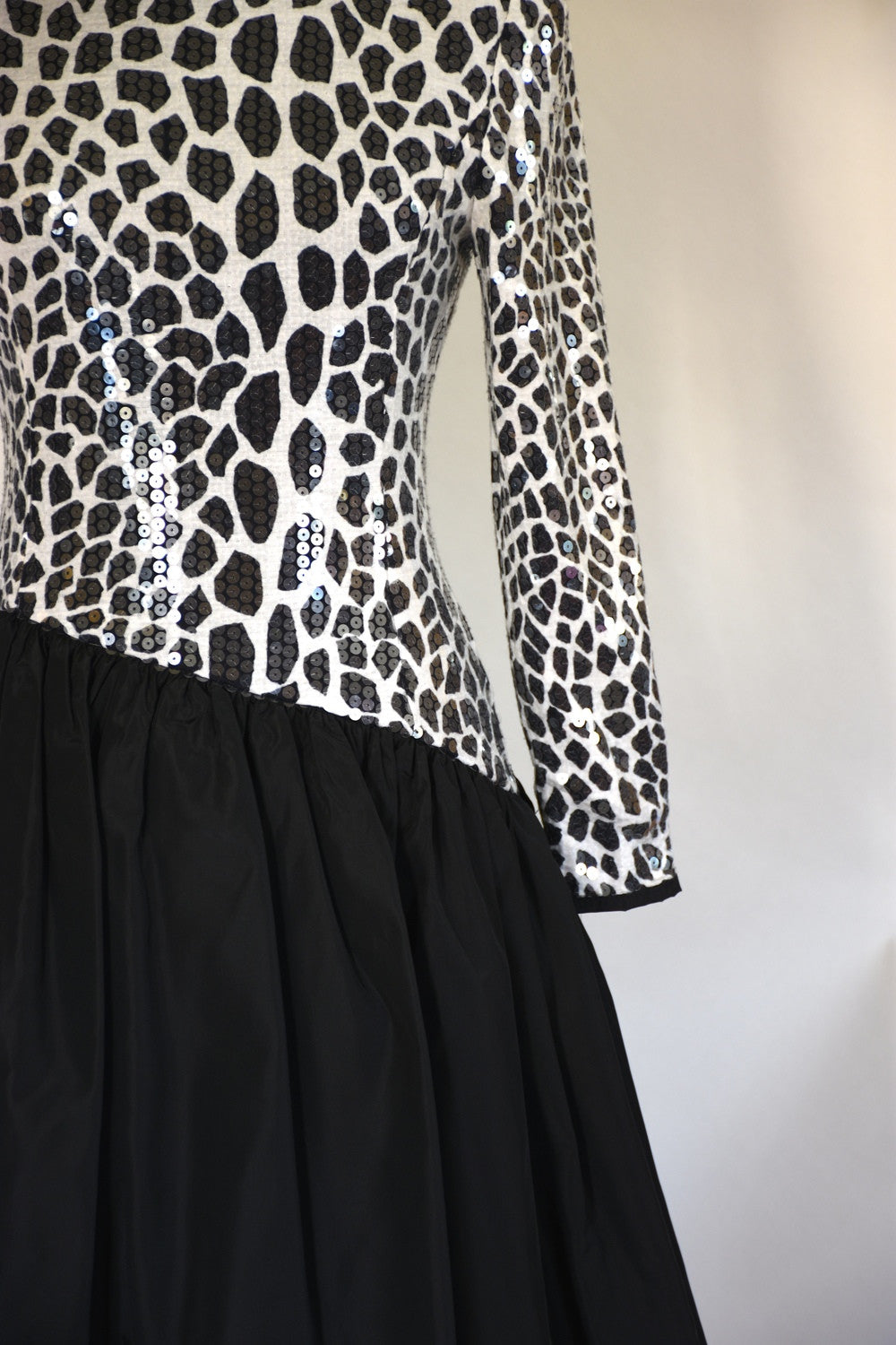 80s glam party dress