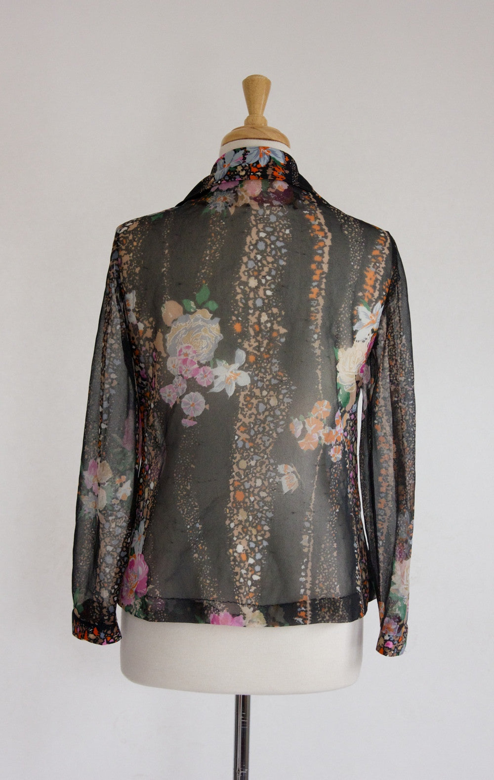 70s Sheer Boho Blouse