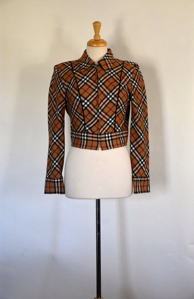 70s 80s Cropped Jacket