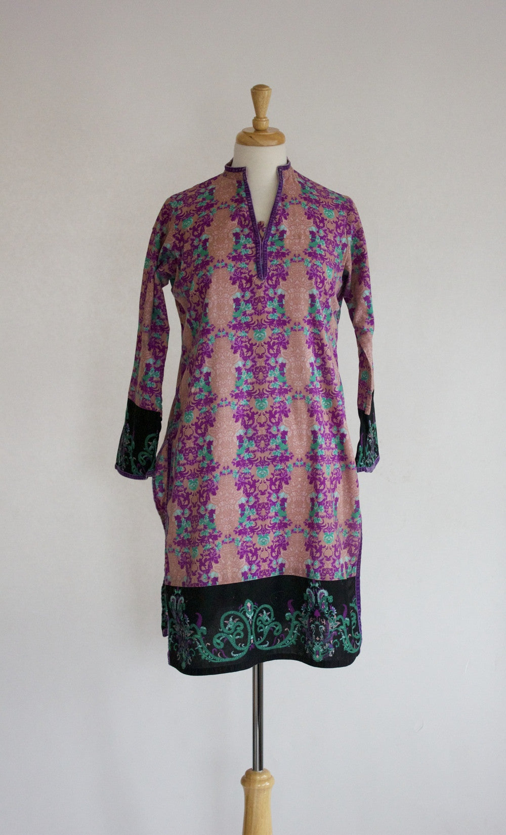 Vintage India Print Cotton Tunic