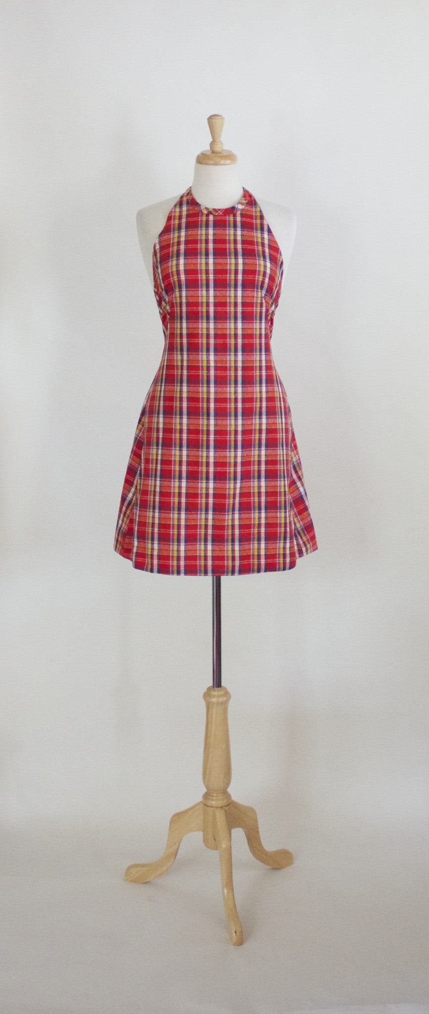 70s Halter Mini Dress