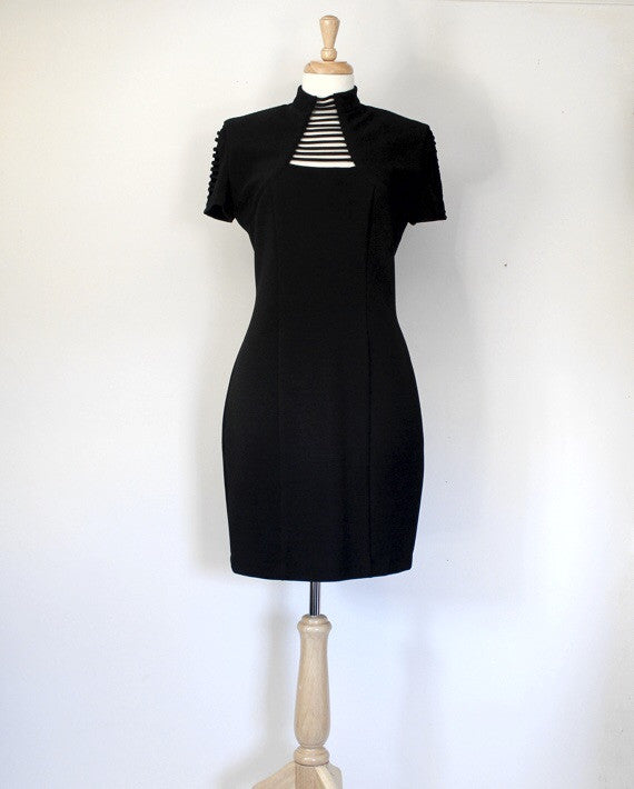 90s black bodycon dress
