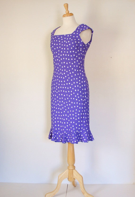 Polka dot column dress