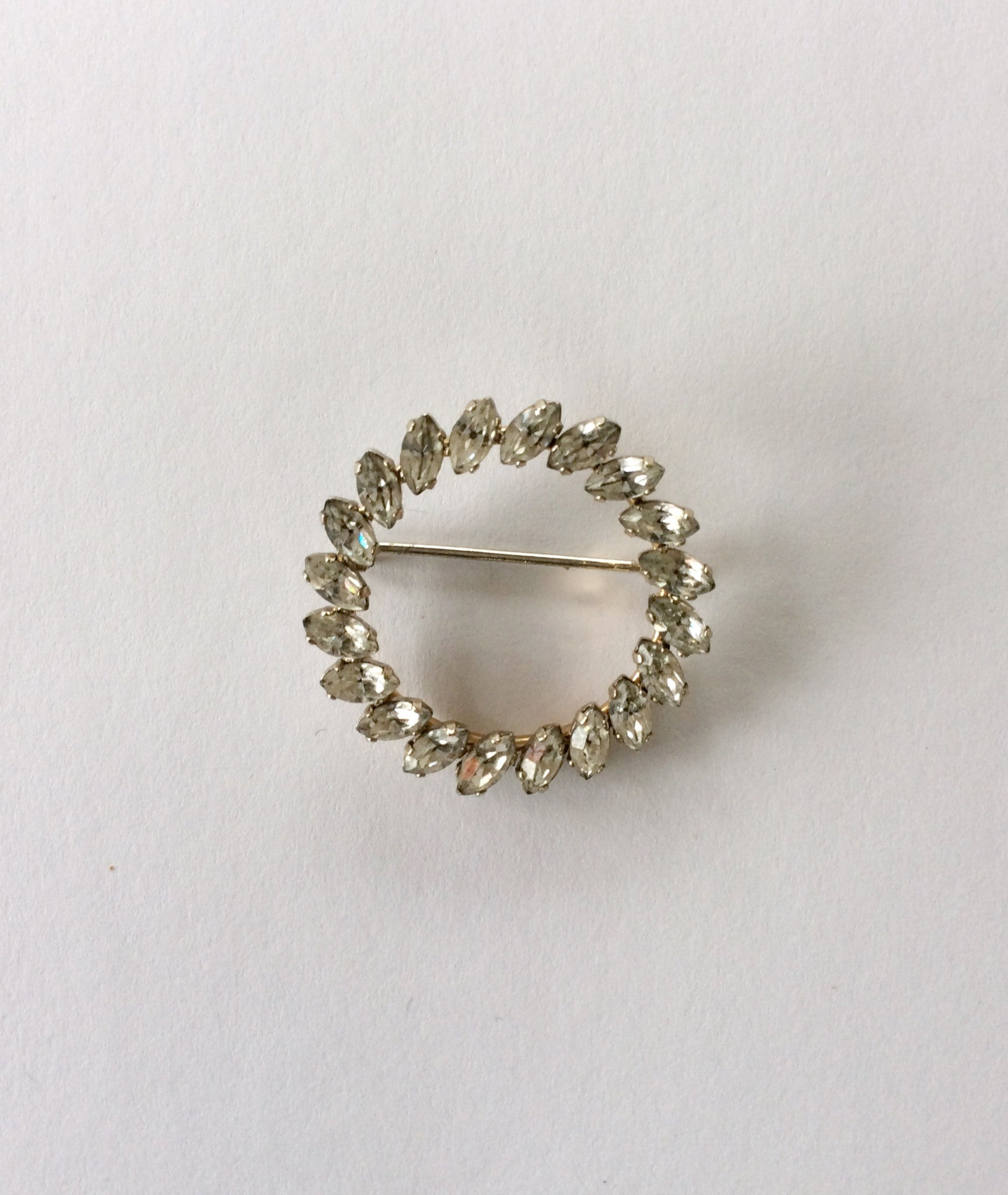 Rhinestone Wreath Pin