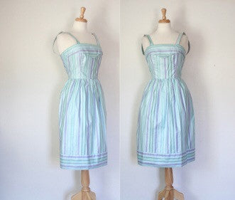 70s striped sundress