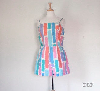 60s bombshell playsuit