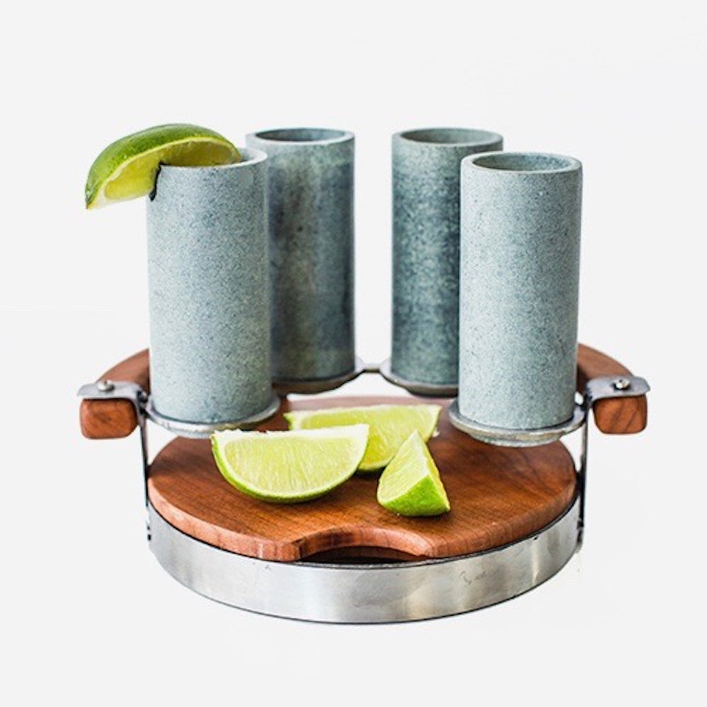 TEQUILA SHOOTER SET WITH CUTTING BOARD (2033)