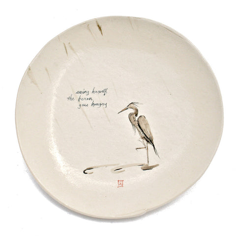 Ceramic Plate - Heron goes Hungry