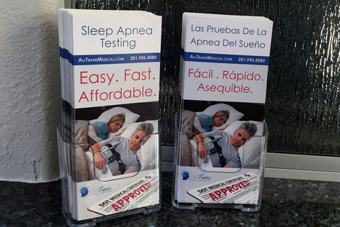 Sleep Apnea Testing Pamphlets and Holder (Espanol)
