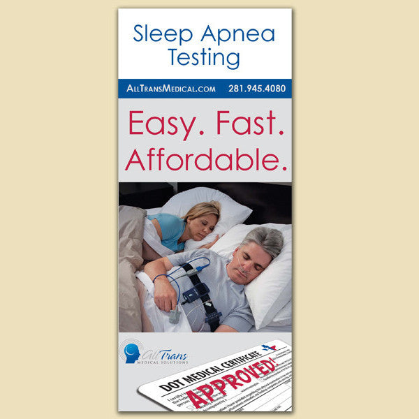 Sleep Apnea Testing Pamphlets and Holder (English)