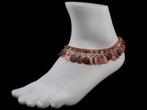 Anklet Copper Tone with Coins (JC197)