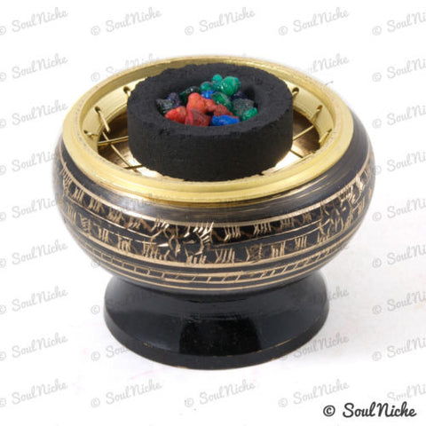 Brass Mesh Charcoal Incense Burner