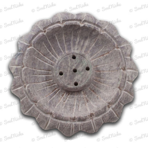 Small Soapstone Lotus Incense Burner