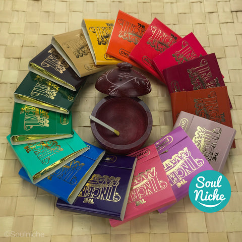 Complete Set of 16 Incense Matches w/ Burner