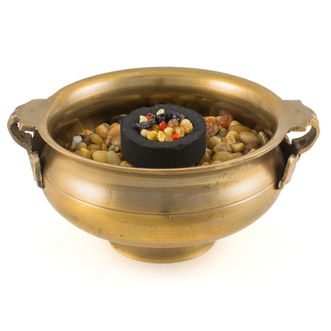 Tibetan Bronze Charcoal Incense Burner 104