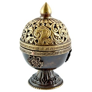 Tibetan Charcoal Incense Burner Censer w/ Antique Finish
