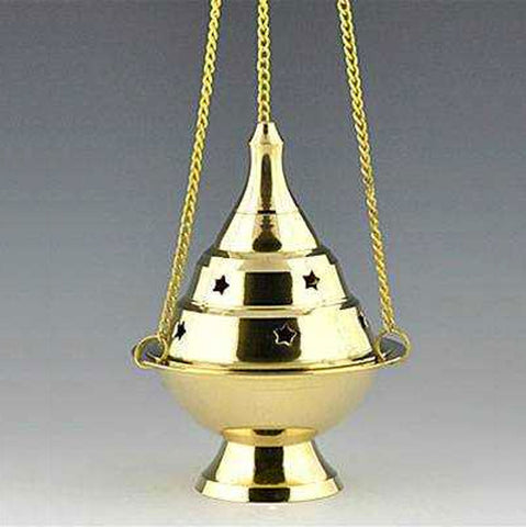 Hanging Brass Incense Burner Censer - 5""