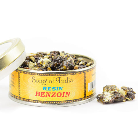 Benzoin Resin Incense Blend Tin - by Song of India